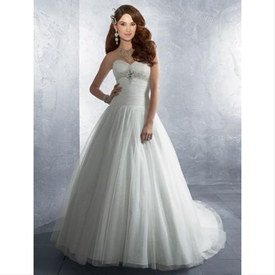 Alfred Angelo: Alfred Angelo White Style 2186 Modern Wedding Dress Size