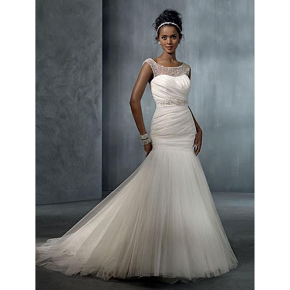 Alfred Angelo: Alfred Angelo Ivory Style 2298 Modern Wedding Dress Size 8