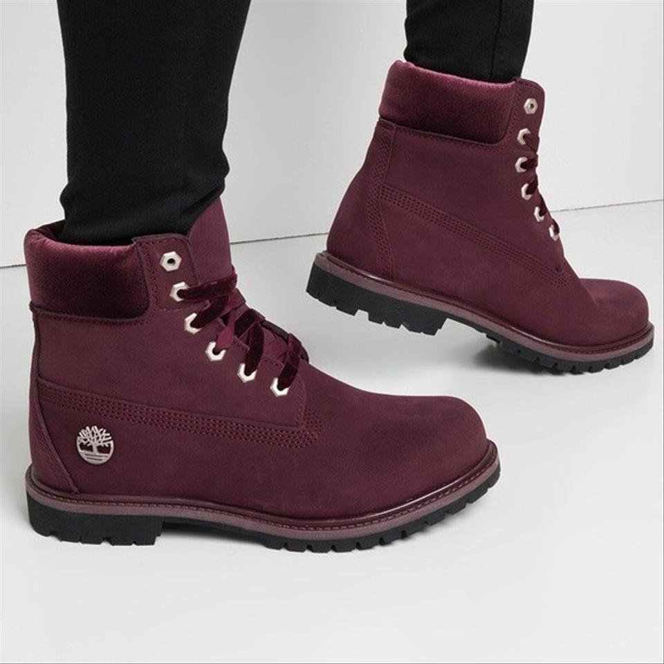 796693ef2a6 Timberland Burgundy Red Tivelvet-accent 6in Premium Waterproof  Boots/Booties Size US 9 Regular (M, B) 26% off retail