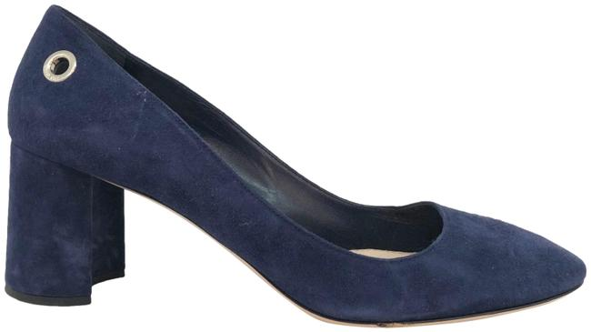 Item - Blue Suede Round Toe Block Pumps Size EU 38.5 (Approx. US 8.5) Regular (M, B)