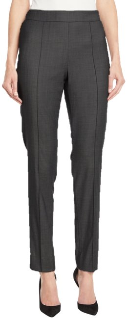 Item - Grigio Grey Stretch Wool Flannel Pintuck Made In Italy. Pants Size 14 (L, 34)