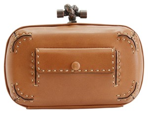 Bottega Veneta Vachette Leather Brown Clutch