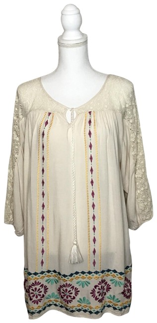 Preload https://img-static.tradesy.com/item/25637061/flying-tomato-cream-crochet-lace-and-embroidered-tunic-size-10-m-0-1-650-650.jpg