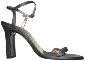 Marciano Satin Chunky Open Toe Strappy Gray Sandals
