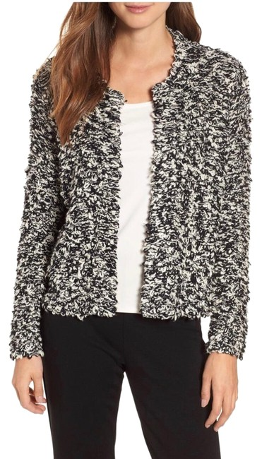 Preload https://img-static.tradesy.com/item/25637476/eileen-fisher-black-and-white-organic-cotton-cardigan-size-petite-4-s-0-1-650-650.jpg
