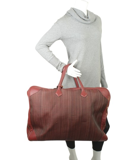 Hermès Hermes Vintage Victoria 60 Burgundy Carry-on Suit Case (173527) Image 1
