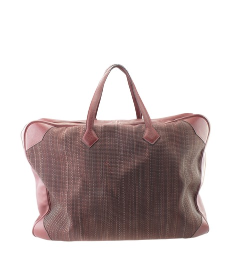 Hermès Hermes Vintage Victoria 60 Burgundy Carry-on Suit Case (173527) Image 4