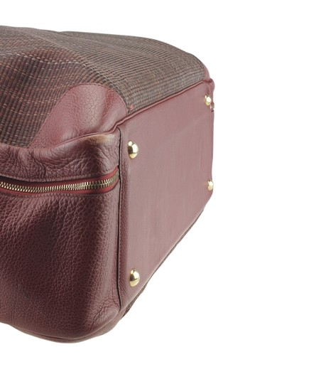 Hermès Hermes Vintage Victoria 60 Burgundy Carry-on Suit Case (173527) Image 6