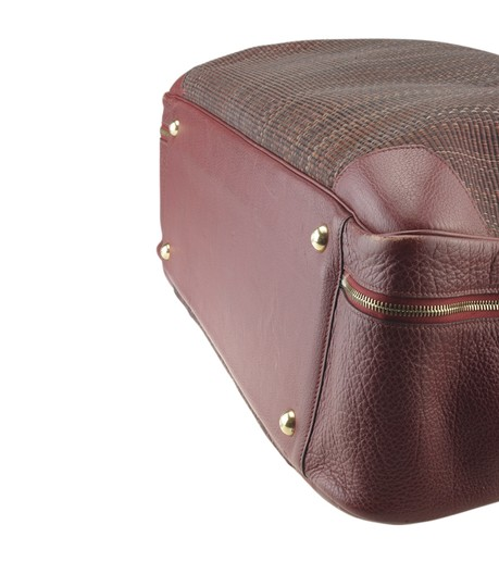Hermès Hermes Vintage Victoria 60 Burgundy Carry-on Suit Case (173527) Image 7
