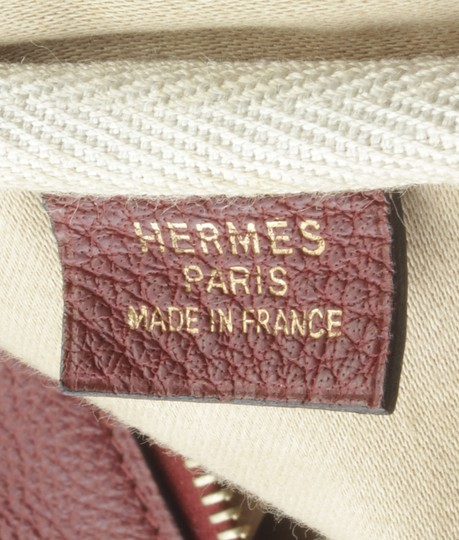 Hermès Hermes Vintage Victoria 60 Burgundy Carry-on Suit Case (173527) Image 9