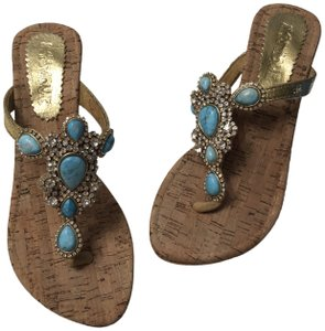Mystique Boutique Turquoise with wedge heel Wedges