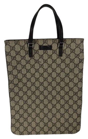 Preload https://img-static.tradesy.com/item/25637504/gucci-bag-beigeebony-brown-leather-117551-beige-canvas-tote-0-1-540-540.jpg