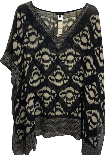 Preload https://img-static.tradesy.com/item/25637538/talbots-blue-and-white-new-with-tags-silk-poncho-tunic-size-14-l-0-1-650-650.jpg