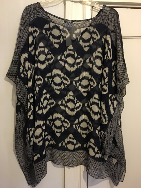 Talbots Silk Poncho Blouse New With Tags Tunic Image 1
