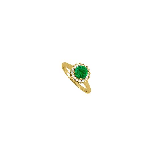 Preload https://img-static.tradesy.com/item/25637549/green-emerald-and-cubic-zirconia-halo-engagement-in-14k-yellow-gold-ring-0-0-540-540.jpg