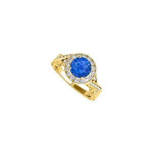 Marco B Sapphire Cubic Zirconia Twisted Shank Ring in 14K Yellow Gold Great