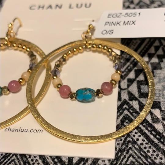 Chan Luu Double Beaded Gold Hoops Image 2
