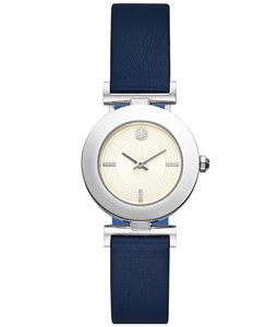 Tory Burch Sawyer Navy & Blue Pull & Twist Reversible Leather Strap Watch