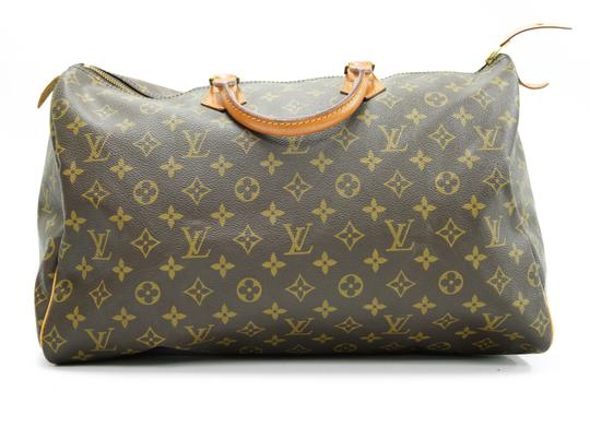 Louis Vuitton 40 Speedy Lv Purse Tote in Brown Image 1
