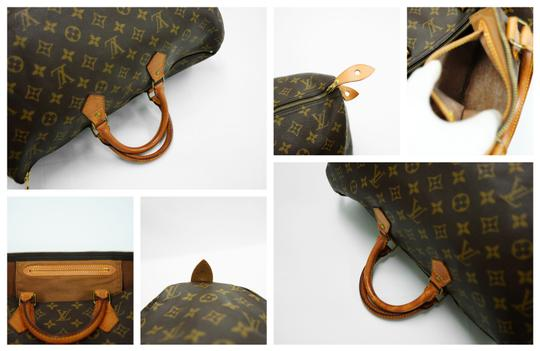 Louis Vuitton 40 Speedy Lv Purse Tote in Brown Image 10