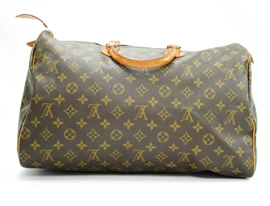 Louis Vuitton 40 Speedy Lv Purse Tote in Brown Image 2