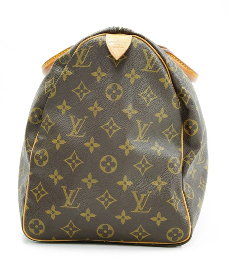 Louis Vuitton 40 Speedy Lv Purse Tote in Brown Image 3
