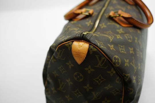 Louis Vuitton 40 Speedy Lv Purse Tote in Brown Image 7