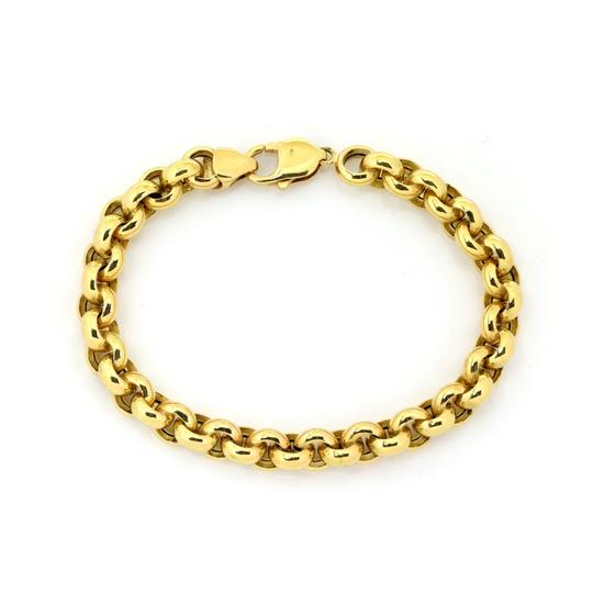 Preload https://img-static.tradesy.com/item/25637646/23523-tiourlo-18k-yellow-gold-85mm-rolo-link-chain-bracelet-0-0-540-540.jpg