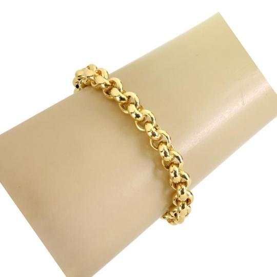 Modern Vintage Tiourlo 18k Yellow Gold 8.5mm Rolo Link Chain Bracelet Image 1