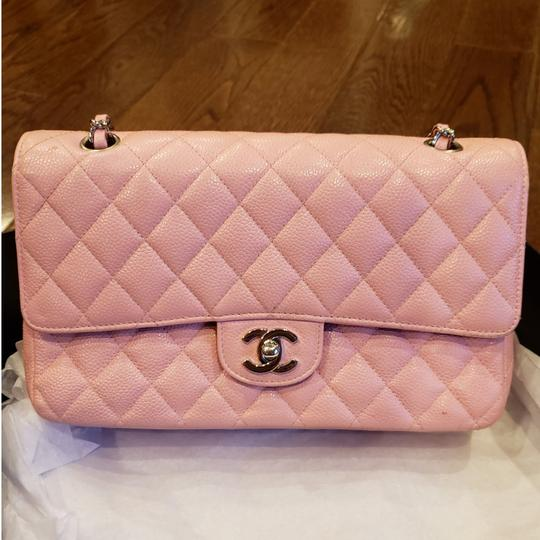 Preload https://item5.tradesy.com/images/chanel-double-flap-pink-caviar-leather-medium-shoulder-bag-25637669-0-3.jpg?width=440&height=440