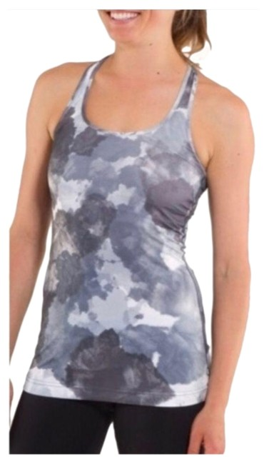 Item - Gray & White Cool Racerback Tank-coal Tinted Canvas Tank Top/Cami Size 6 (S)