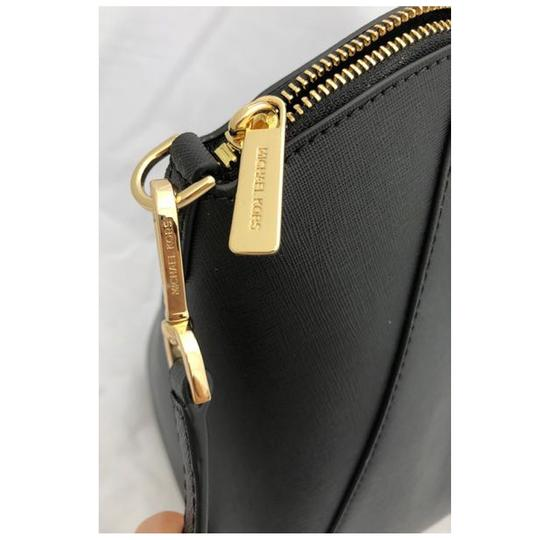 Michael Kors Womens Leather Satchel in Black Image 1