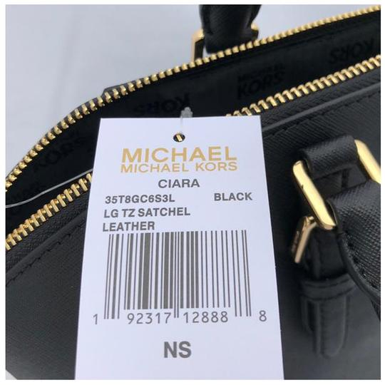 Michael Kors Womens Leather Satchel in Black Image 4