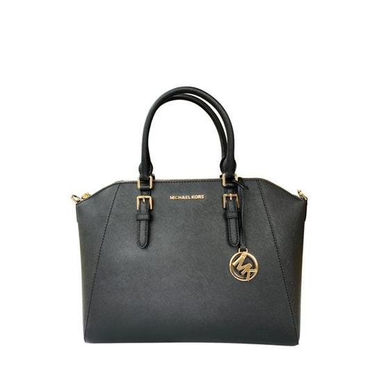 Michael Kors Womens Leather Satchel in Black Image 5