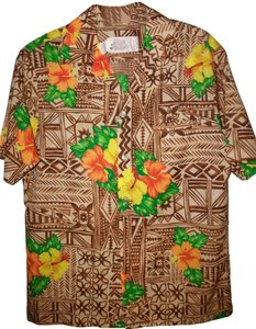 Hilo Hattie Hawaiian Shirt Tropical Shirt Camp Shirt Button Down Shirt Floral