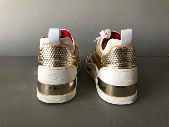 Christian Louboutin Metallic Leather Red Sole With Box Snow Gold Athletic Image 2