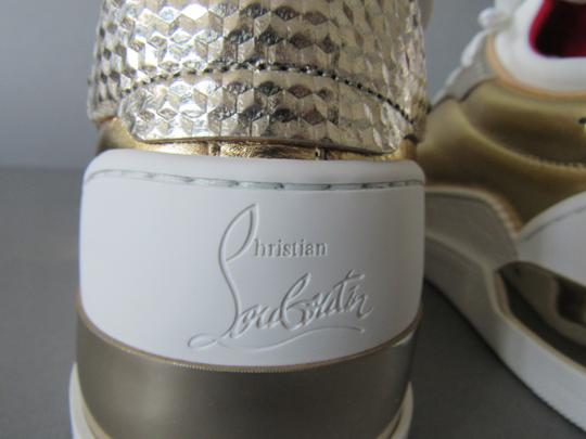 Christian Louboutin Metallic Leather Red Sole With Box Snow Gold Athletic Image 4