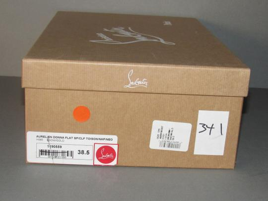Christian Louboutin Metallic Leather Red Sole With Box Snow Gold Athletic Image 7