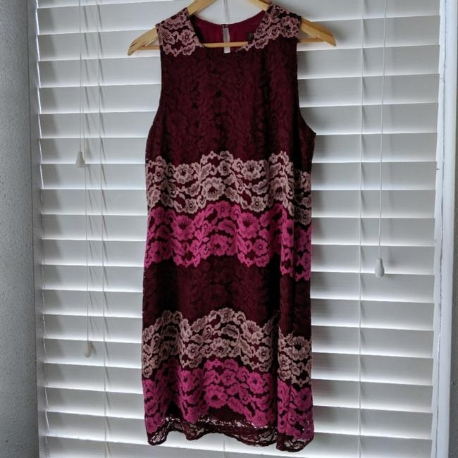 Preload https://item4.tradesy.com/images/renee-c-pink-mckayla-lace-shift-short-casual-dress-size-4-s-25637833-0-1.jpg?width=400&height=650