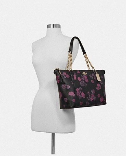 Coach Satchel Leather Satchel Ava 58318 Tote in multicolor blakc pink Image 1
