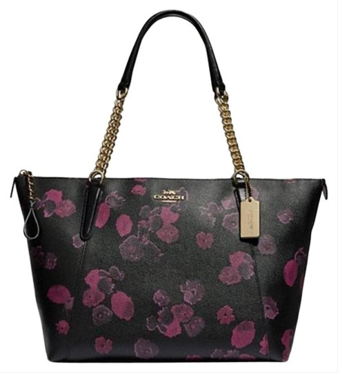 Coach Satchel Leather Satchel Ava 58318 Tote in multicolor blakc pink Image 10
