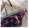 Coach Satchel Leather Satchel Ava 58318 Tote in multicolor blakc pink Image 3