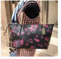 Coach Satchel Leather Satchel Ava 58318 Tote in multicolor blakc pink Image 8