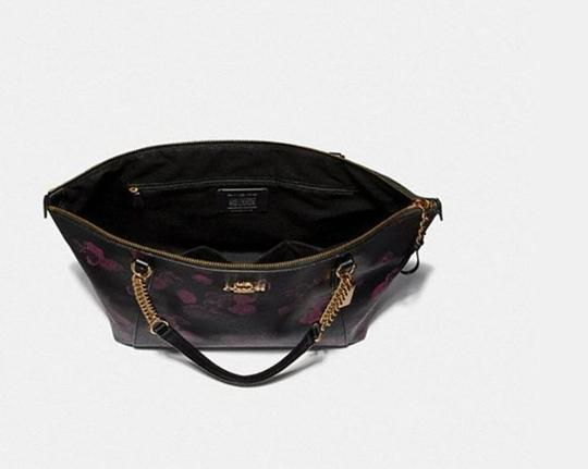 Coach Satchel Leather Satchel Ava 58318 Tote in multicolor blakc pink Image 9