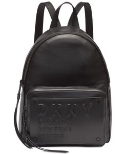 DKNY Leather Logo Plate Backpack