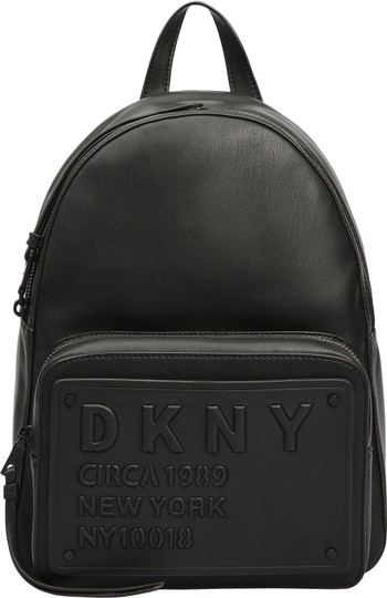 DKNY Leather Logo Plate Backpack Image 2