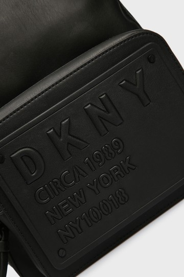 DKNY Leather Logo Plate Backpack Image 4