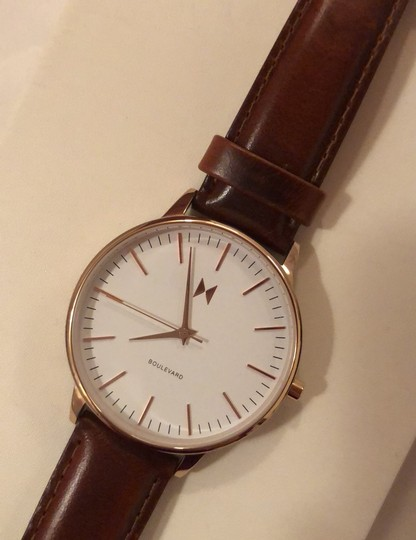 MVMT Boulevard Leather Strap Watch Image 1