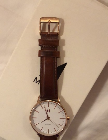MVMT Boulevard Leather Strap Watch Image 5