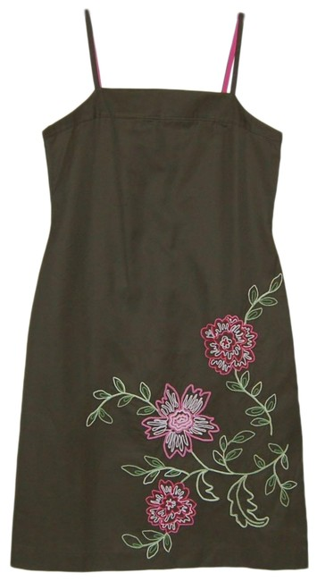 Preload https://img-static.tradesy.com/item/25637864/jcrew-green-new-without-tag-embroidered-floral-spaghetti-strap-mid-length-short-casual-dress-size-6-0-1-650-650.jpg
